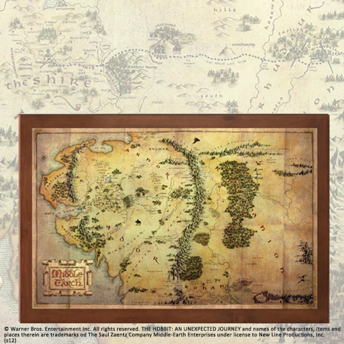 The Hobbit: The Map of Middle Earth - Noble Collection on world globe map with names, map of earth with labels, map of earth with degrees, map of earth with cities, map of earth with states, map of earth with countries, map of earth with life, map of earth time,