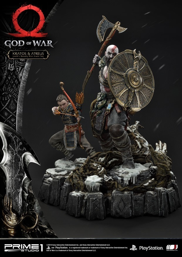 God Of War Kratos And Atreus Ivaldi S Deadly Mist Armor Statue Prime 1 Studio