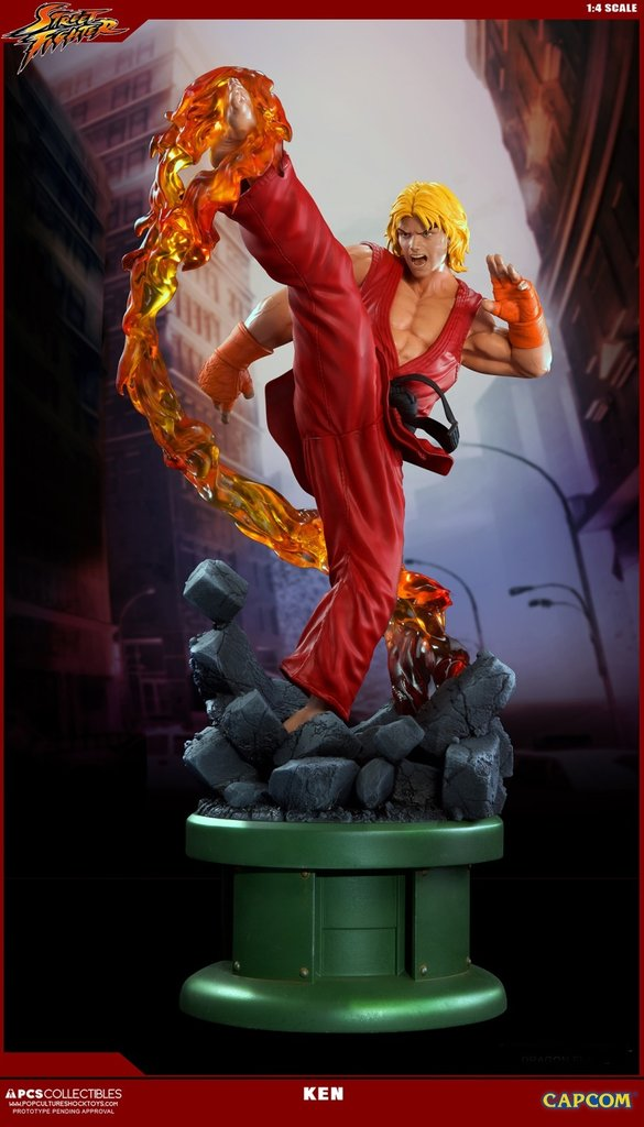 Street Fighter Iv Ken Dragon Flame Regular 1 4 Scale Statue Pop