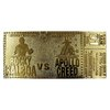 Rocky: 45th Anniversary - Fight Ticket 24k Gold Plated Replica - Fanattik