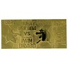 Rocky 4: Ivan Drago Fight Ticket 24k Gold Plated Replica - Fanattik